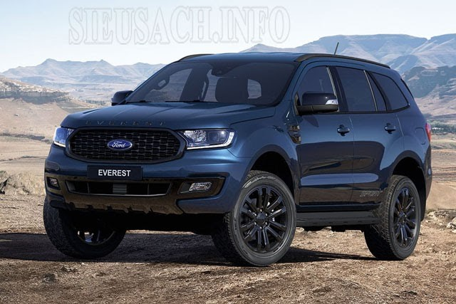 Ford Everest đen