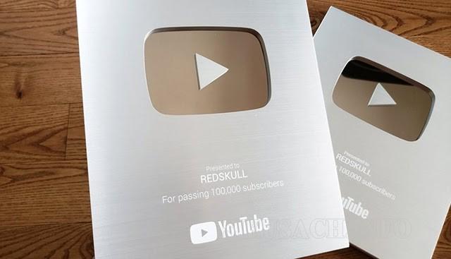 Kênh của bạn đạt 100.000 sub sẽ nhận được nút bạc từ youtube