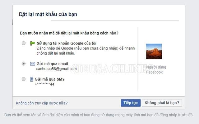 Lấy lại mật khẩu Fb bằng Username nhanh chóng, đơn giản