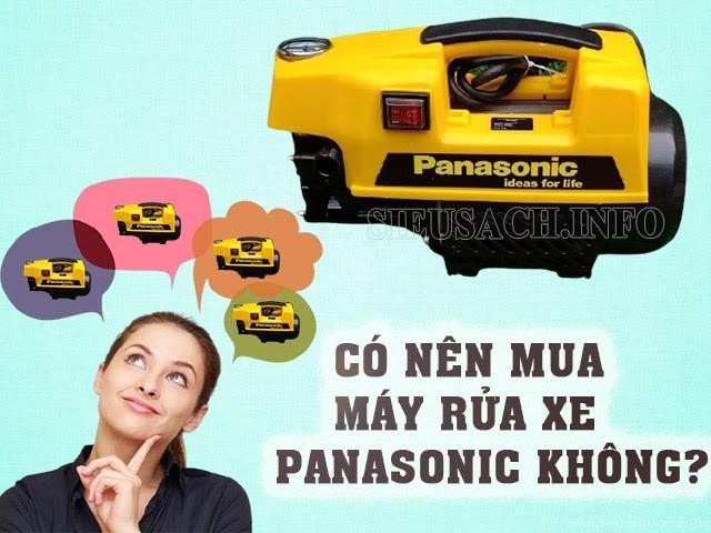 Có nên mua máy rửa xe Panasonic không?