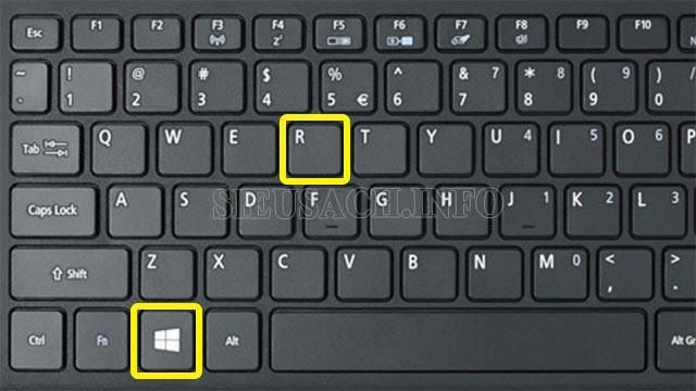 Nhấn tổ hợp phím tổ hợp phím Windows+R