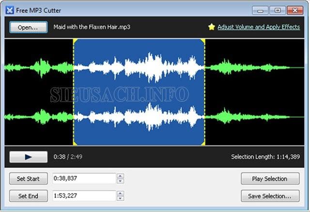 Phần mềm Free Mp3 Cutter