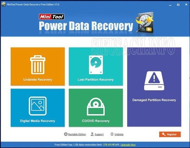 Phần mềm MiniTool Power Data Recovery