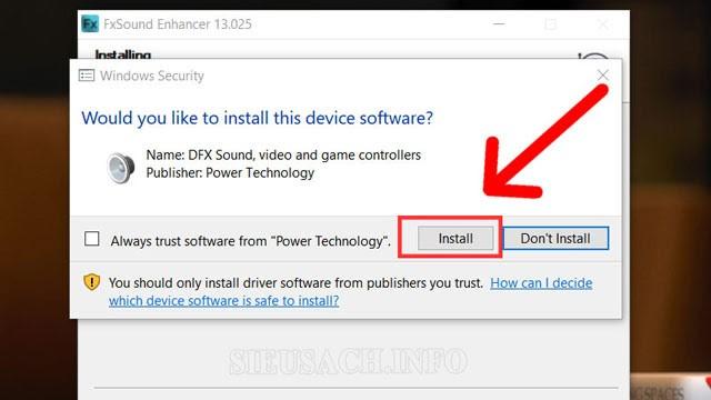 Các bạn tiến hành chọn Install
