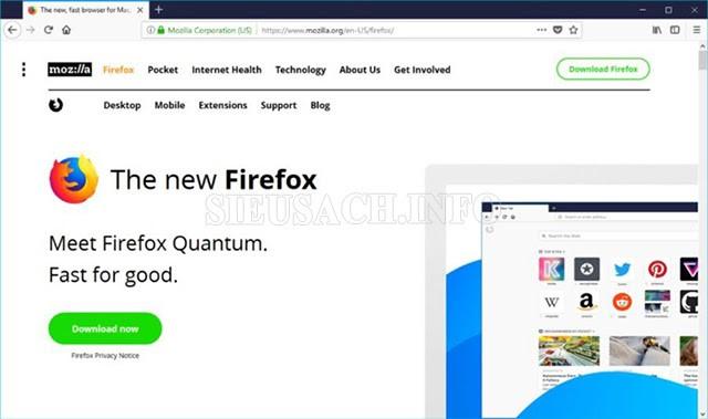 "Giao diện của ""Mozilla Firefox"""