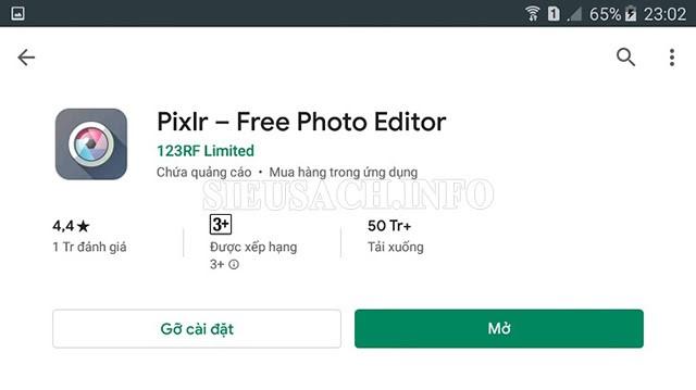 Pixlr - app làm nét ảnh miễn phí