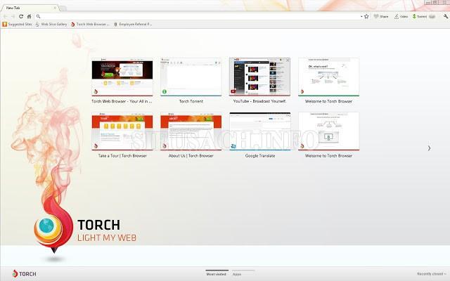 Torch - sở hữu giao diện tương đồng với Google Chrome