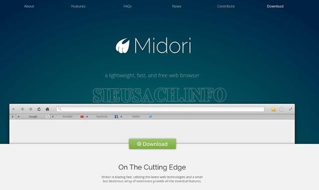 """Trình duyệt web """"Midori"""""""
