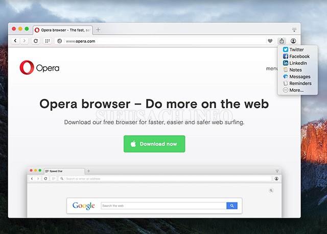 """Trình duyệt web """"Opera"""""""