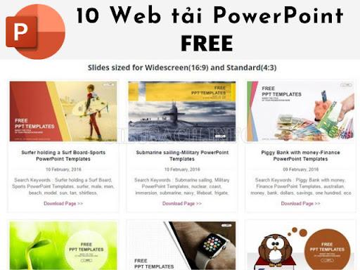 Các trang web tải bản PowerPoint miễn phí 2021