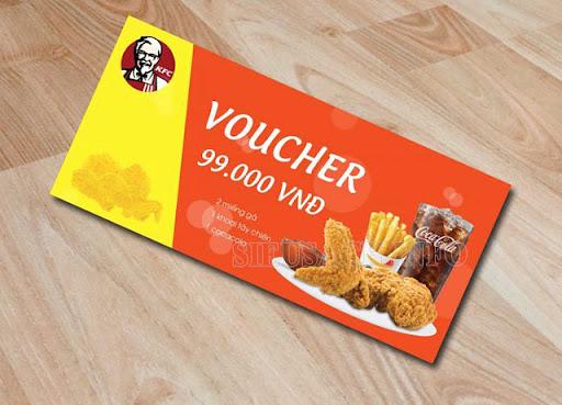 Ví dụ như KFC thường có các voucher giảm giá dành cho khách hàng