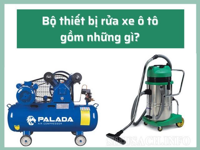 Máy nén khí, máy hút bụi dùng trong xịt rửa xe hơi cần những yêu cầu gì?